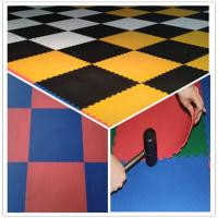 Quality 3W Oil Resistance Plastic PVC Click Interlocking Flooring Tiles for sale