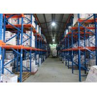 Quality Warehouse Metal Steel Storage Drive In Racking System Space Saving 500-2000KG / Pallet for sale