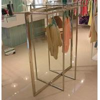 Quality Stainless Steel Clothes Display Hanging Rack Metal Clothes Stand With ODM / OEM Service for sale
