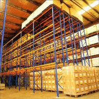 Quality Metal Q235B Double Deep Storage Racking Systems  For Industrial Warehouse for sale