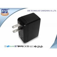 Quality Portable USB Travel Adaptor Single Port 5v 0.5A Black Color For Cell Phone for sale