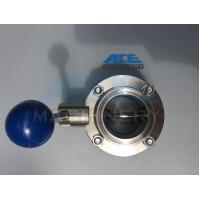 Quality Stainless Steel Manual Welded/Threaded Butterfly Valve (ACE-DF-4D) for sale