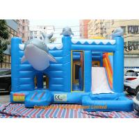 Quality Blue Color Waterproof Kids Jumping Castles / Inflatable Water Slide for sale