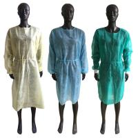 Quality Soft Disposable Isolation Gown , Disposable Ppe Gowns Elastic Cuffs OEM Service for sale
