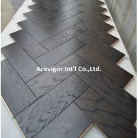 Quality High-end customized White Oak Parquet Herringbone (stained wenge color) for sale