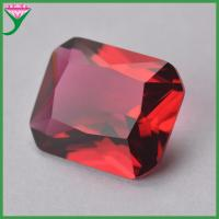 China rose color rectangle octangle shape cut glass semi precious stones for jewelry making for sale