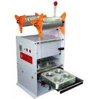 China Four Cups Plastic Cup Sealing Machine 220V 50HZ Cup Sealer Sealing Machine on sale