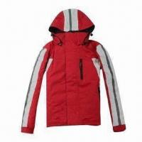 Quality PU-coated children's ski jacket with hood, waterproof and breathable for sale