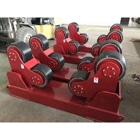 Quality Red Color Self Aligning Heavy Duty Roller Stand Beds With 380 / 550v Voltage for sale