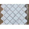 Italian Bianco Carrara Marble Mosaic Tile / Mosaic Kitchen Tiles Irregular Shape for sale