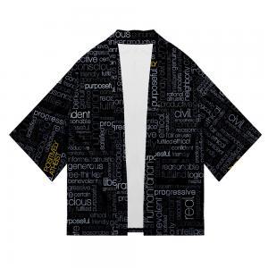 Quality Stylish Oversized Black Denim Jacket , 100% Cotton Men'S Denim Kimono Jacket for sale