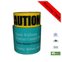 Quality Yellow and Green Caution Buried Floor Marking Bulding PE Hazard Warning Tape for sale