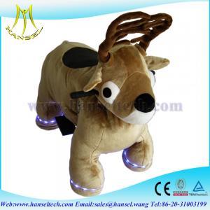 Quality Hansel stuffed animal ride shop display animal 4 wheels toys car for sale