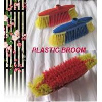 HQ0153 Italian screw red color indoor soft broom W/TPR,protect furniture while for sale