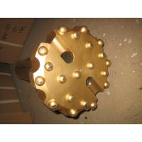 Quality Gold Spherical Concave Drill Bit , Alloy Forging SD6 190 Mm Rock Drill Bits for sale