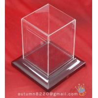 Quality BO (156) acrylic display case with wood base for sale