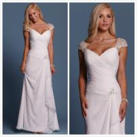 Quality Sheath Chiffon Beach wedding dress Bridal gown#6457 for sale
