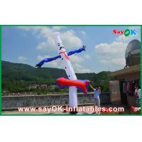 Quality Advertising 5m Blue White Inflatable Air Dancer , Inflatable Air Dancer Cook Sky for sale