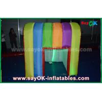 Quality Rainbow Colorful Colors Inflatable Photo Booth Props Portable Inflatable Tent for sale
