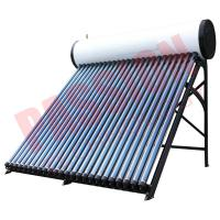 China Roof Mounted Heat Pipe Solar Water Heater , 300 L Closed Loop Solar Hot Water System on sale