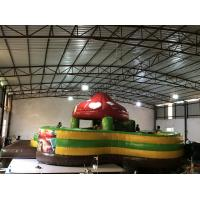 Quality New design inflatable mushroom fun city round shape inflatable mushroom bouncy house fun amusement park for sale for sale