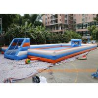 Quality 22 * 11m Inflatable Football Pitch / Giant Inflatable Soccer Field 2 years Warranty for sale