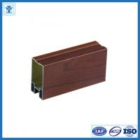 Quality Wooden color anodized aluminum window profiles for sale