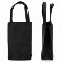 Quality Wine Bag for 2 Bottles, Green Product, Made of 80g/m² Nonwoven Material for sale