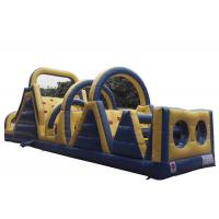 Quality Blue Adrenaline Rush Blow Up Obstacle Course , Obstacle Course Jumper For Sport for sale