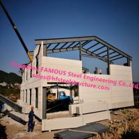 Quality Prefab House Light Steel Villa Prefab Metal Buildings With Welded Frame for sale