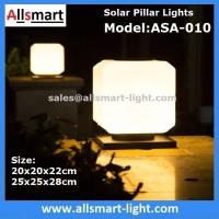 Quality Squared Virginal Lily White Solar Pillar Lights Solar Chapiter Lamp Column Fence Lights China Factory Exporter for sale