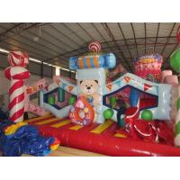 Buy cheap Colorful Commercial Inflatable Candy Castle Bounce House For Christmas from wholesalers