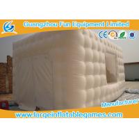 Quality Fire Resistant Inflatable Marquee Tent Hire , Inflatable Party Tent With 0.6mm Plato PVC Material for sale