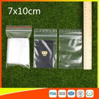 Quality Small Resealable Plastic Bags / Small Zipper Pouch / Small Zipper Bags for sale