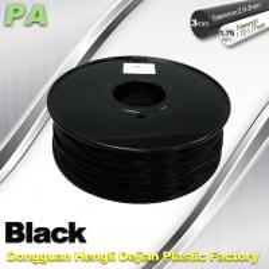 Quality 3D Printer Filament 3mm 1.75mm Black Nylon Filament PA Filament for sale