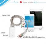 Quality High Definition IOS IPad Handheld Ecg Machine With Wifi Bluetooth Transfer Data for sale