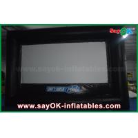 Quality Outdoor Black and White Inflatable Projector Movie Screen Oxford Cloth for sale