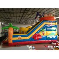 Quality Inflatable Dinosaur Kids Inflatable Jumper , Outdoor 10 X 9m Blow Up Fun House for sale