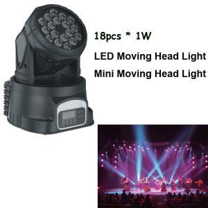 China 18pcs 3w lighting moving heads,led rgb dmx mini moving head,moving head wash light QM-003 on sale