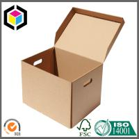 Quality Custom Structure Corrugated Cardboard Paper Packing Box with Cutout Handle for sale