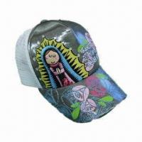 Quality Sports Caps with 6 Panels, Printing/Embroidery Logo, Made of Cotton for sale