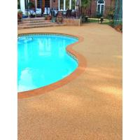 Quality EPDM Pool Rubber Flooring , Outdoor Rubber Surfacing For Pools And Patios for sale