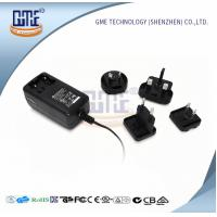 Quality Wall Mount AC DC Power Adapter 12v 2a With Interchangeable Plugs PSE UL GS Approved for sale