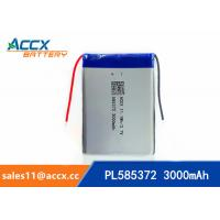Quality 585372 3000mAh lithium polymer battery for digital products 3.7V with PCM protection for sale