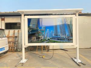 Quality 65 inch landscape type gas and petrol station waterproof 2500 nits screen advertising lcd outdoor kiosk for sale