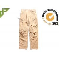 Outdoor Brown Tactical Combat Pants With Metal Pulls And Teeth Front Zipper
