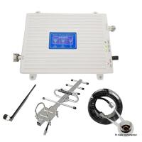 Quality Phone booster cellular signal repeater Tri band mobile signal amplifier 900 1800 2100 mhz signal booster for sale