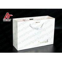 Quality Simple Style Custom Printed Bakery Bags , Ribbon Handle Monogrammed Paper Bags for sale