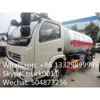 Buy hot sale lpg gas cooking propane delivery truck, 5500L lpg gas transported tank truck at wholesale prices