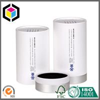 Quality Elegant Design Color Printing Round Paper Tube; White Color Paper Tube with Cap for sale